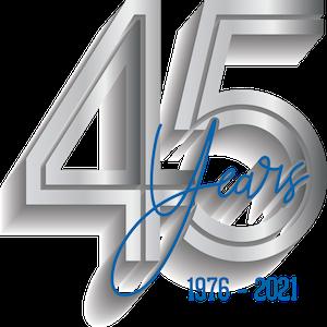 45 Year Anniversary Logo 600x600
