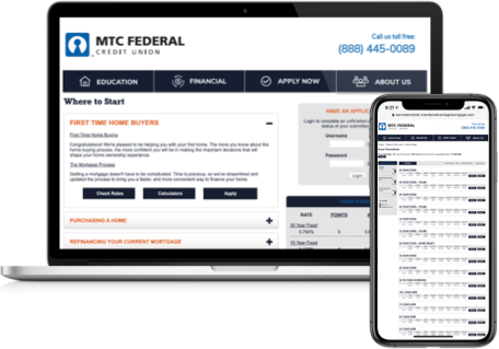MTC Federal Lending Center Website Example